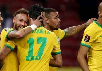 विश्व कप फुटबॉल क्वालीफायर में ब्राज़ील की लगातार पांचवीं जीत