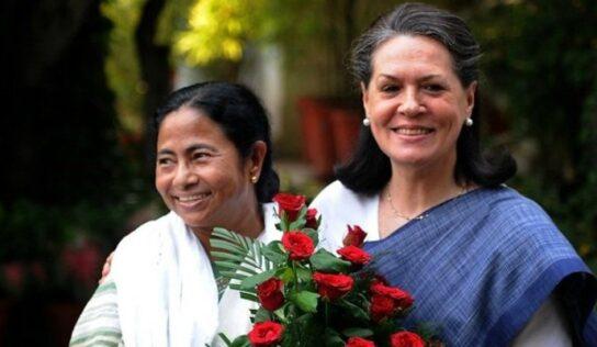कांग्रेस अध्यक्षा सोनिया गांधी से मिलीं ममता बनर्जी